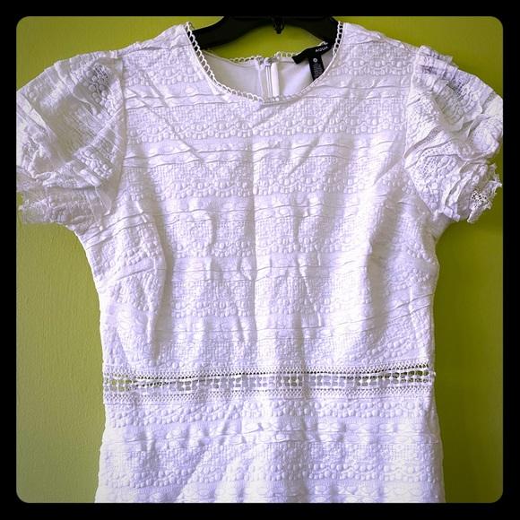 Aqua Dresses & Skirts - Women's White AQUA Dress Bloomingdales Exclusive